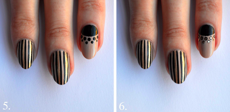 black gold nail art tutorial step 5