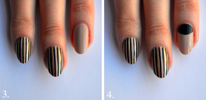 black nail art tutorial step 3