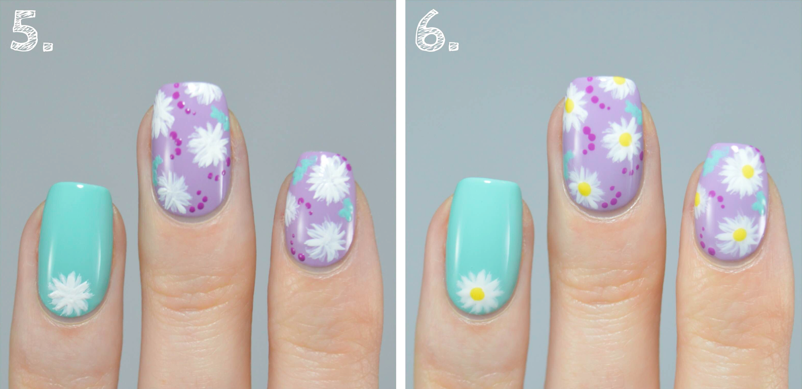 nail art tutorial step five and six