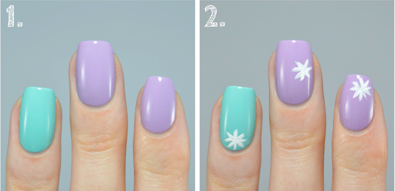 nail art tutorial step one and two