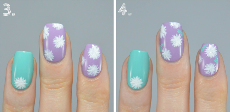 nail art tutorial step three and four