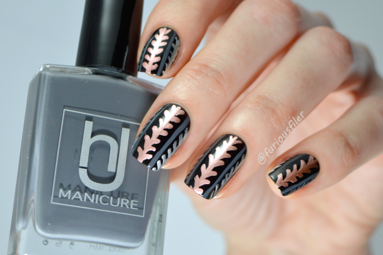 metallic nail art tutorial